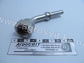 """Ниппель DKR 1/2""""-14 (под шланг dу=10 мм.) (угол 45 °)"""