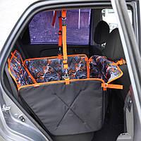 Автогамак трансформер для перевозки собак ВOX MINI Level универсальный чехол для авто