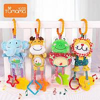 Детские подвески, погремушки, игрушка-прорезыватель Tumama Kids Животные Плюшевые Набор 4 шт