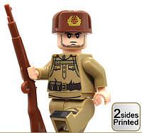 Военные фигурки,Советский солдат 1шт, аналог лего, BrickArms