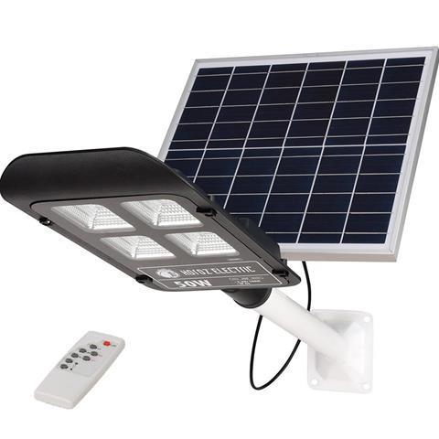 Столбовой светильник с солнечной панелью и пультом 50W 6400K LAGUNA-50 Horoz Electric