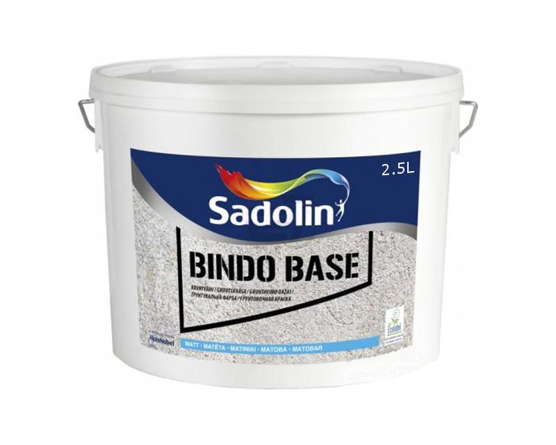 Грунт дисперсионный SADOLIN BINDO BASE для невпитывающих поверхностей белый (база ВW) 2.5л