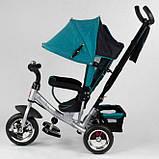 Детский трехколесный велосипед с ручкой козырьком колеса пена Best Trike 6588-16-481, фото 2