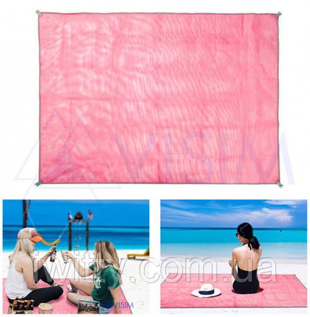 Пляжный коврик Антипесок Sand-free Mat подстилка покрывало для моря 150х200 см, фото 2