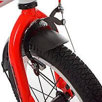 Велосипед дитячий PROF1 14 Д. SY1455 чорно-червоний, фото 2