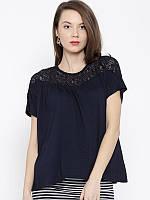 Женская блуза летняя с кружевомMango, фото 1