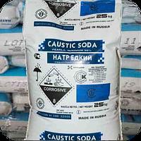 Сода каустическая (натр едкий, гидрооксид натрия) гранулированная в мешках по 25 кг.