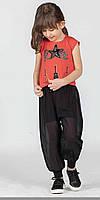 Брючный костюм с джоггерами для девочек 6-9 лет Турция C.S.W.