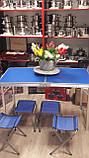 Посилений стіл для пікніка, розкладний валізу, 4 стільця Посилений/Міцний, фото 8