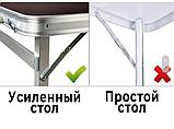 Посилений стіл для пікніка, розкладний валізу, 4 стільця Посилений/Міцний, фото 10