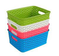 Пластиковая универсальная корзина для хранения вещей и мелочей