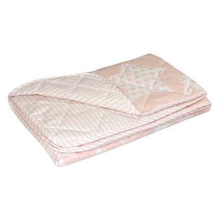 Детское хлопковое одеяло Руно 105х140 летнее Beige Star в кроватку, фото 2