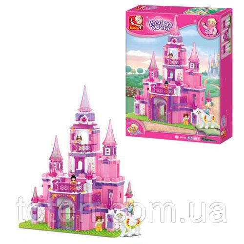 Конструктор SLUBAN M38-B0152 (8шт) замок принцессы, фигурки, 472 дет, в кор-ке, 52-38-8см Н