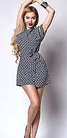 Женское летнее платье с поясом, фото 1