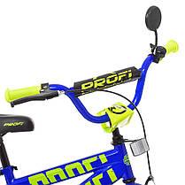 Велосипед дитячий PROF1 14 Д. T14175 синій, фото 2