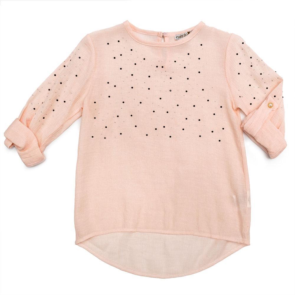 Блуза для девочек Guetta 122  розовая 507