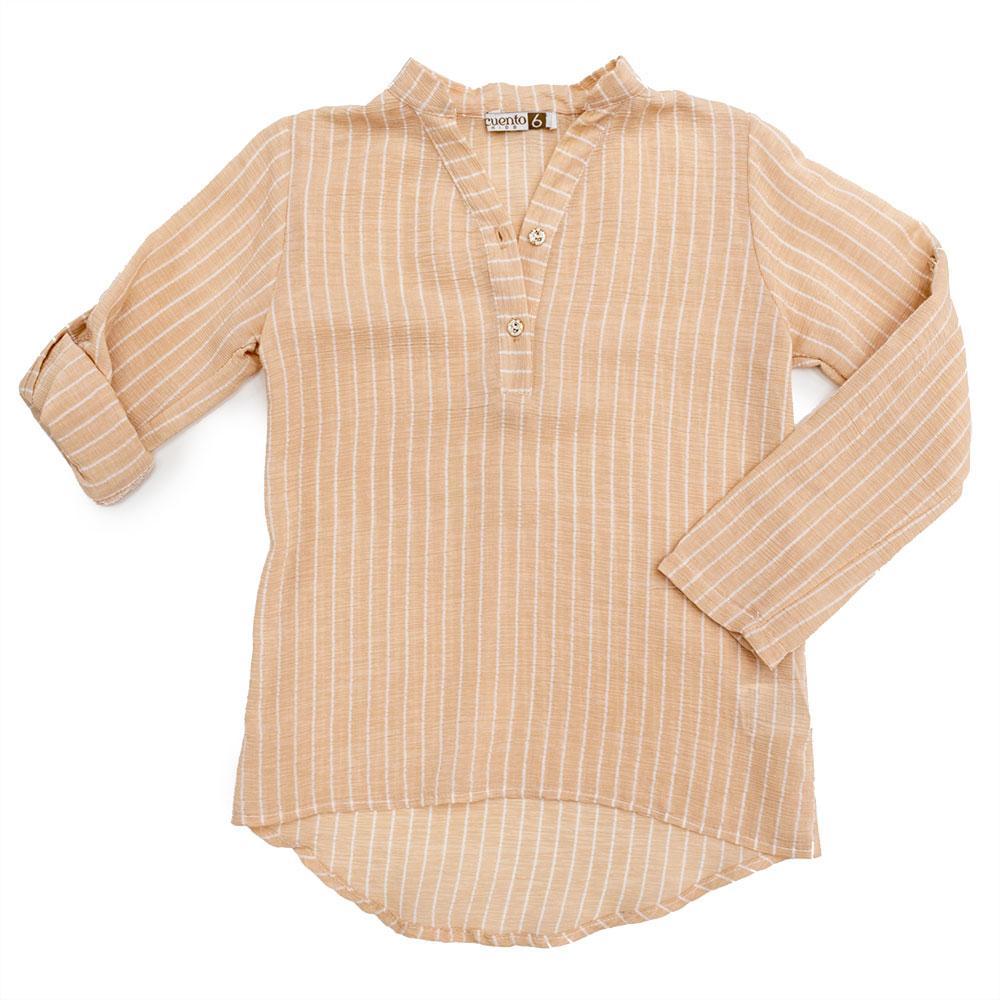 Блуза для девочек Guetta 122  бежевая 483