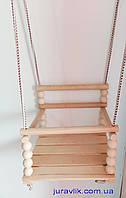 Детские подвесные качели деревянные №8