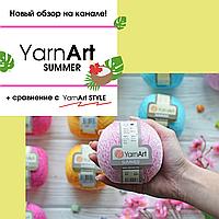 Новый обзор пряжи Yarnart Summer и сравнение с Yarnart Style