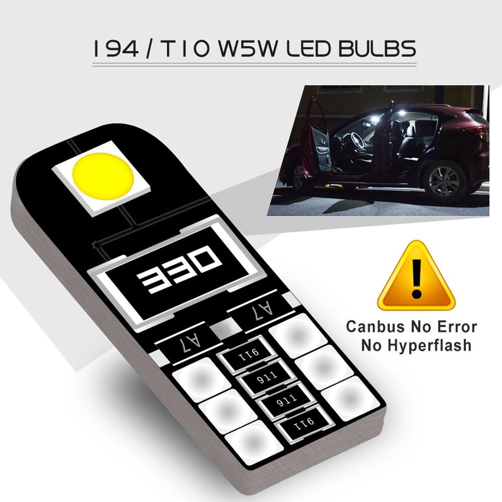 W5W T10 Canbus автомобильные светодиодные лампы