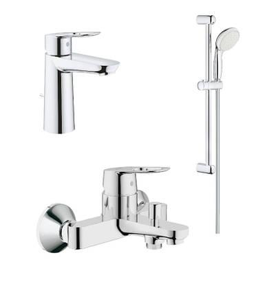 Набор смесителей для умывальника, ванны и душевая стойка M-Size Grohe BauLoop 123215M, фото 2