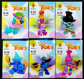 Конструктор набор 6 в 1 Тролли Trolls фигурки троллей SL8969, фото 2