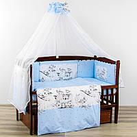Комплект 8 предметів добраніч коала блакитного кольору бортики подушки