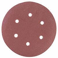 Шлифовальный круг 6 отверстий Ø150мм P120 (10шт) SIGMA (9122271), фото 1