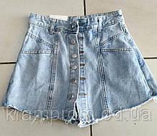 Стильные  женские джинсовые шорты-юбка женские 48