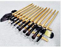 Набор кистей для макияжа 18 штук в чехле