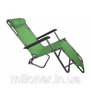 Комплект шезлонгів Bonro 178 см темно-зелений (2шт), фото 2