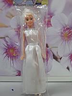 Кукла  в белом  свадебном платье белые волосы