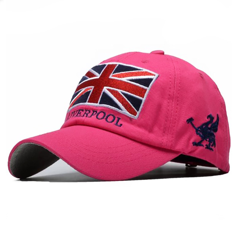 Бейсболка Liverpool розовая, кепка блайзер