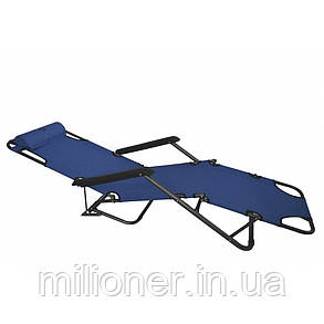 Комплект шезлонгов Bonro 160 см темно-синий (2шт), фото 2