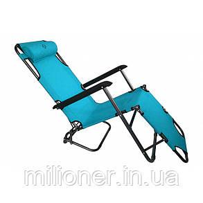 Комплект шезлонгов Bonro 160 см голубой (2шт), фото 2