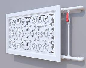 Декоративна решітка на батарею SMARTWOOD   Екран для радіатора   Накладка на батарею 600*600