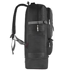 Рюкзак-трансформер SPORT туристический 42+8 л  57(+11) х40х18  ткань Оксфорд цвет серый ксД1019сер, фото 2