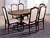 Кухонный комплект -Вавилон. Стол раздвижной и 4 стула. Цвет - т.орех, фото 3