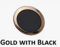 IPhone 5 Декоративная наклейка на кнопку Home  золото, черный