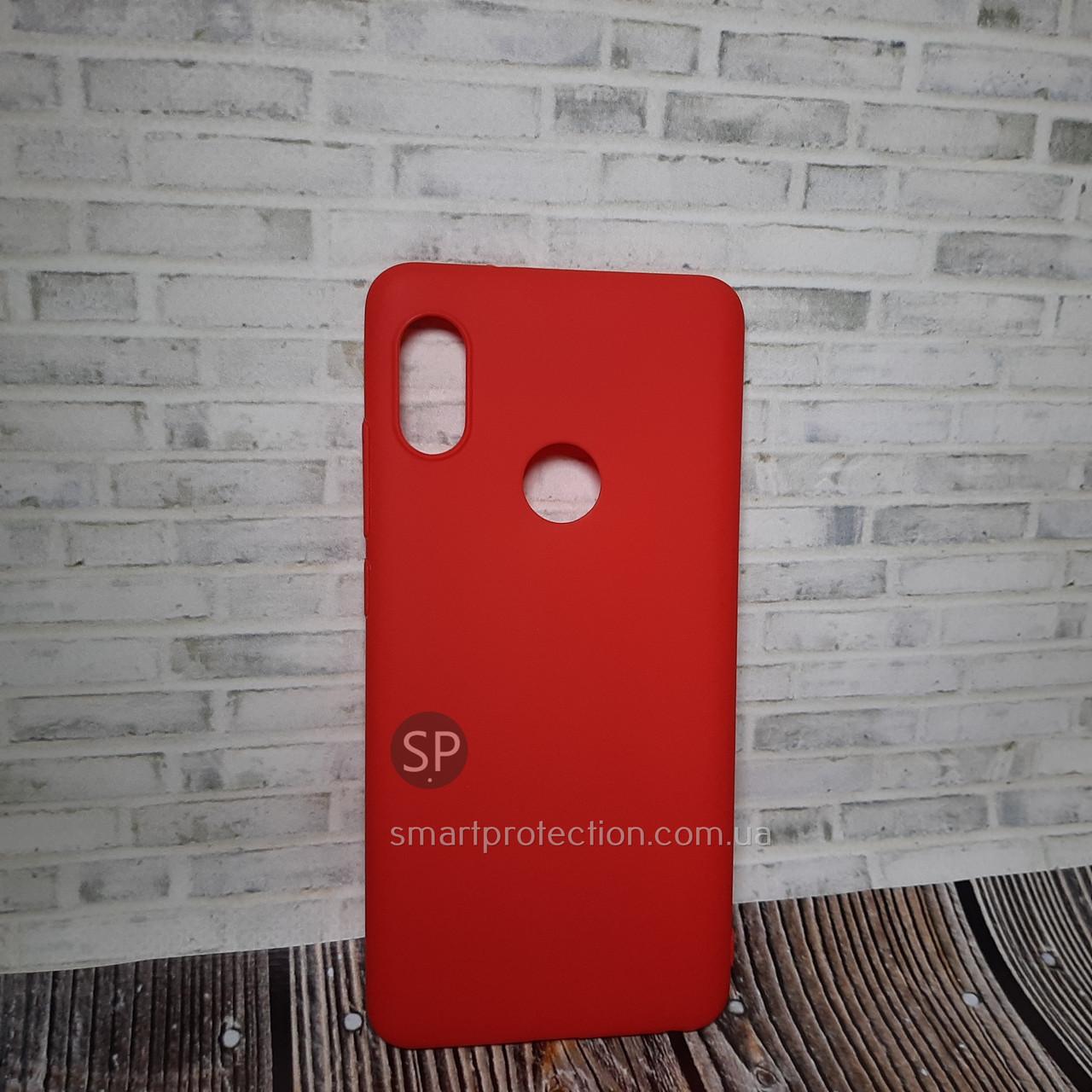 Накладка силиконовая для Xiaomi Redmi Note 5 Pro красная  Miami Soft Touch