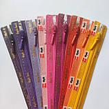 Блискавки OPTI спіральні нероз'ємні, різні кольори, різні довжини, з автоматичним фіксатором, фото 2