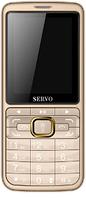 Телефон кнопочный на 3 сим карты с большим дисплеем м мощной батареей Servo S10 gold