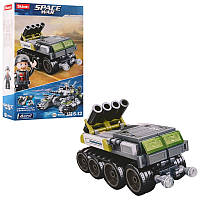 """Конструктор """"Военная машина"""" для мальчиков модель SLUBAN M38-B0793D, в коробке фигурка и 123 деталей сборки."""