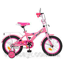 Велосипед детский PROF1 14 Д.  T1461 розовый, фото 2