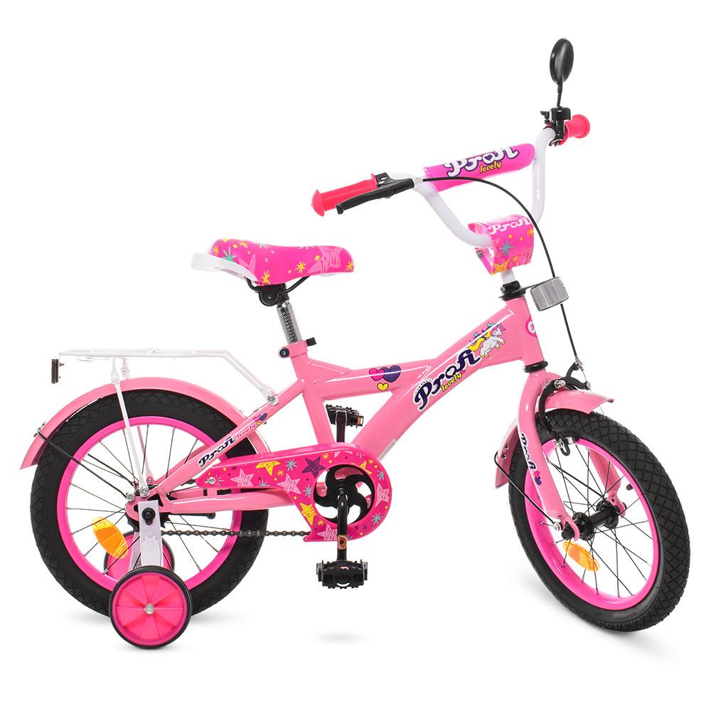 Велосипед детский PROF1 14 Д.  T1461 розовый