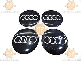 Наклейка эмблема колеса AUDI (4шт) силикон (диаметр ф90мм), фото 2