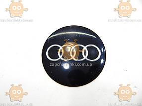 Наклейка эмблема колеса AUDI (4шт) силикон (диаметр ф90мм), фото 3