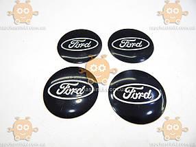 Наклейка эмблема колеса FORD (4шт) силикон (диаметр ф90мм), фото 2