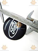 Наклейка эмблема колеса FORD (4шт) силикон (диаметр ф90мм), фото 3