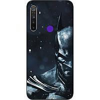 Силиконовый чехол с картинкой для Realme 5 Бетмен